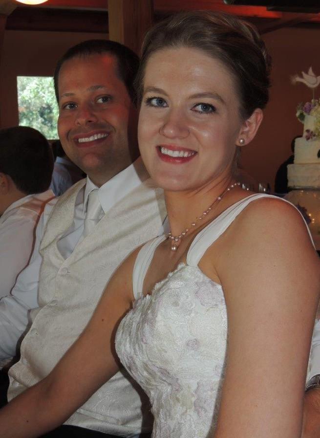 wedding close up face