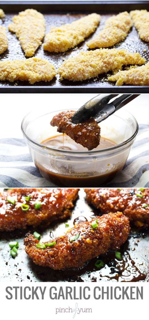 sticky garlic chicken