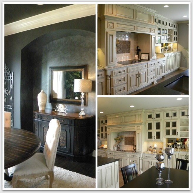 The faux finish of this alcove was so rich looking and this was my favorite kitchen of the day!