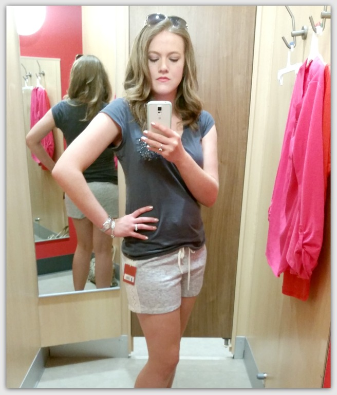 Love these casual shorts with the lace sides!  Top is from target (old).
