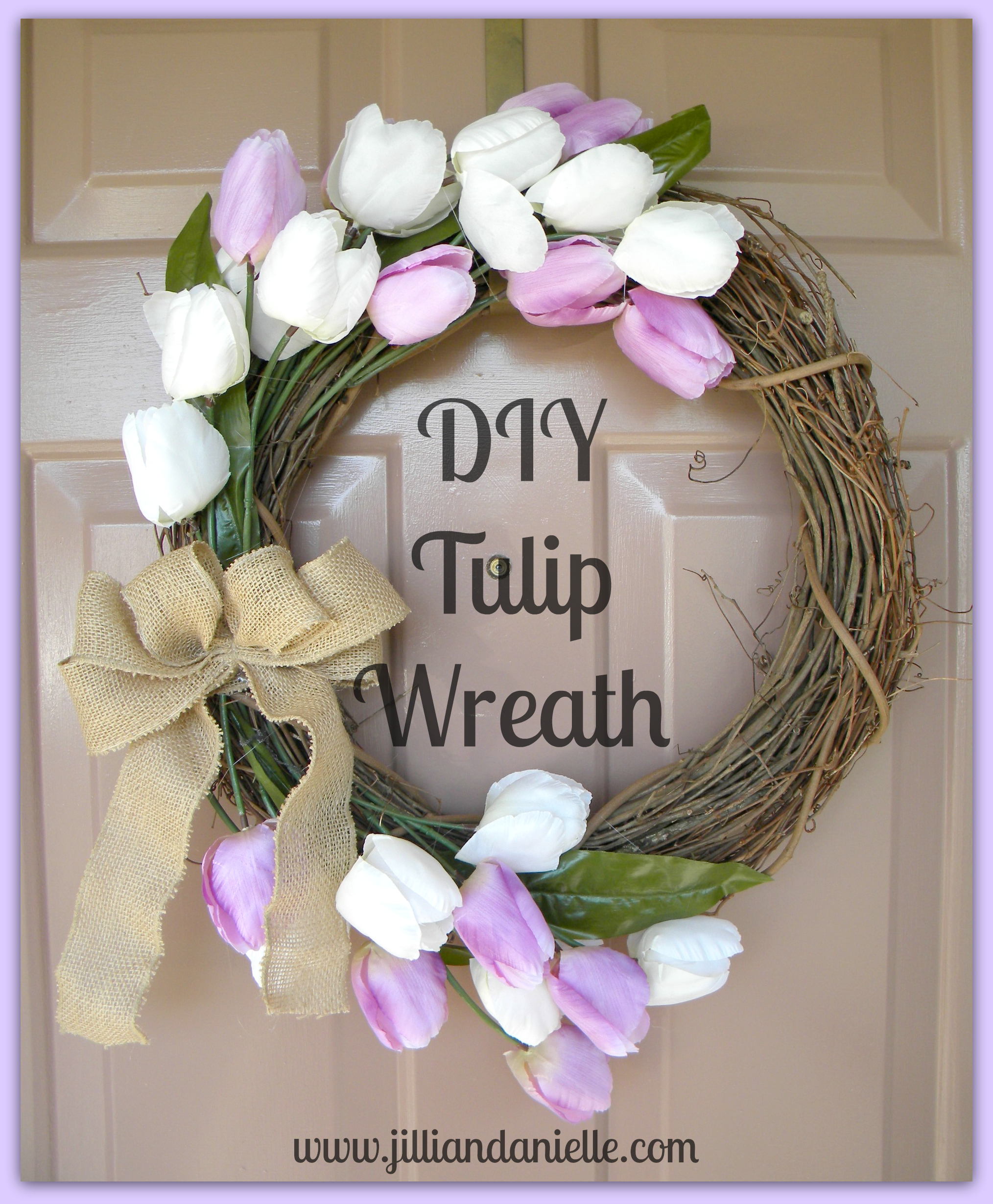 DIY Tulip Wreath  www.jilliandanielle.com